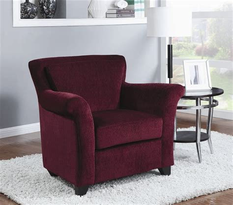 Burgundy Accent Chair Burgundy Chenille Accent Chair By Coaster 900304