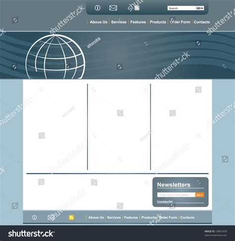 page layout and design concepts concept and design web page layout template stock vector