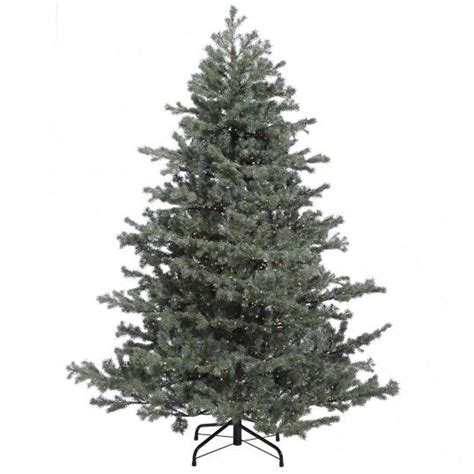 7 5 foot led tree 7 5 foot green grey mountain fir tree clear led rice