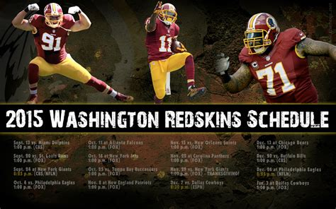 2015 redskins schedule wallpaperwednesday hog blogs