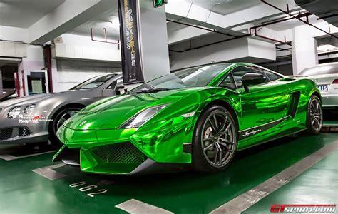 Chrome Lamborghini A Special Green Chrome Lamborghini Gallardo