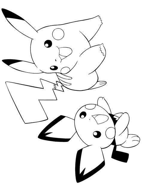 ninja pikachu coloring page free coloring pages of pikachu y pichu