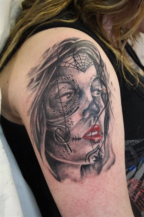 tattoo girl of the day day of the dead girl by simplytattoo on deviantart
