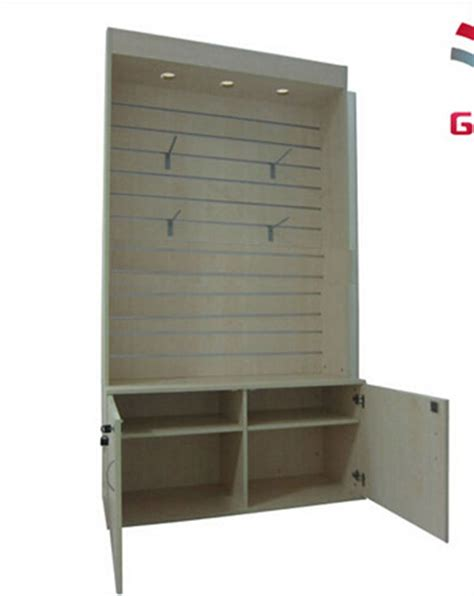 Cabinet For Clothes For Sale Wooden Slatwall Display Cabinet Wood Display Cabinets For