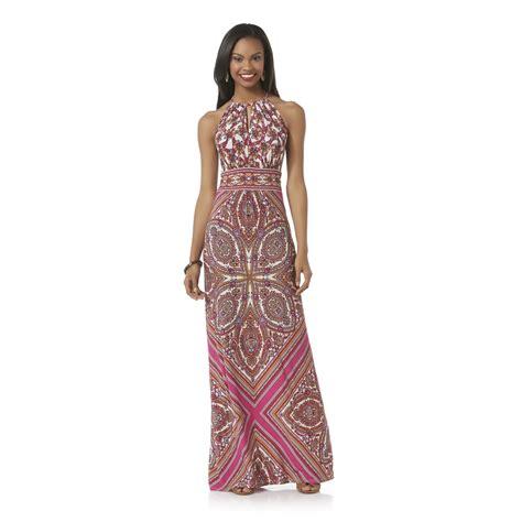 are maxi dresses suitable for woman over 50 covington women s halter maxi dress scarf print
