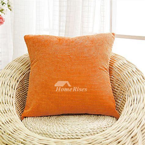 cheap decorative pillows blue cotton  couch square