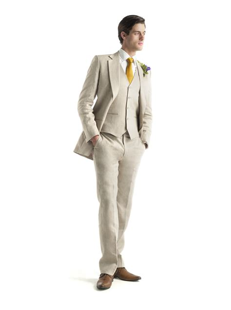 Luxury Designer Dresses - linen three piece wedding dress from a suit that fits hitched co uk
