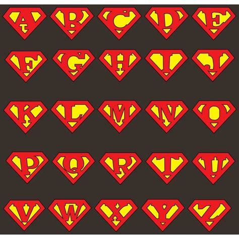 superman alphabet template 25 best images about birthday on