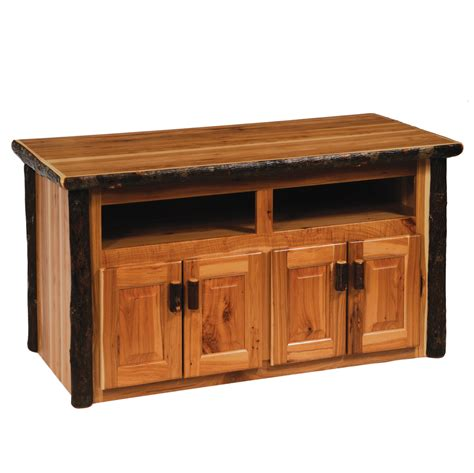 Tv Stand Furniture by Cottage Hickory Widescreen Tv Stand Rustic Furniture Mall By Timber Creek