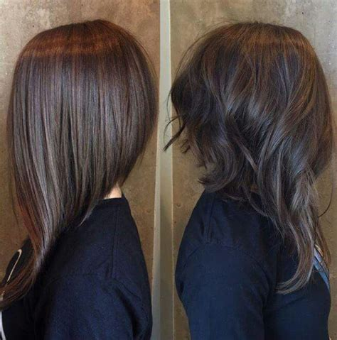 medium hair longer in front long front short back pinteres