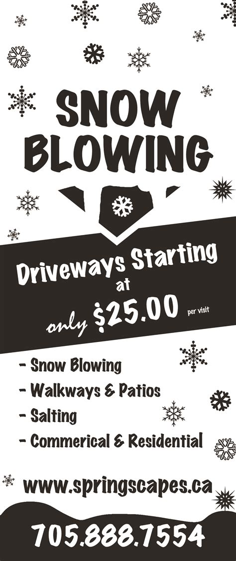 professional quote template snow removal snow clearing stayner amp creemore on