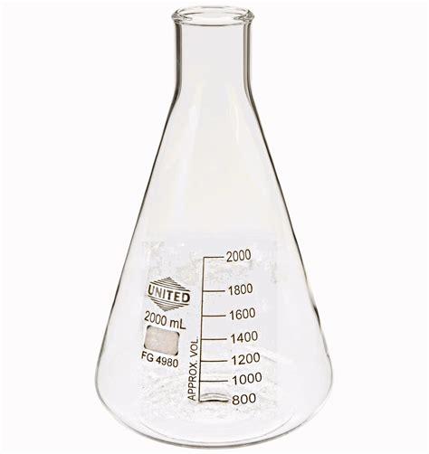 Erlenmeyer Flask 1000 Ml Narrow Neck With Graduation Duran laboratory aids glass erlenmeyer narrow and wide