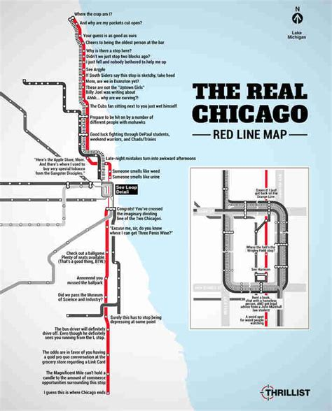 chicago map with lines the real line map chicago cta thrillist