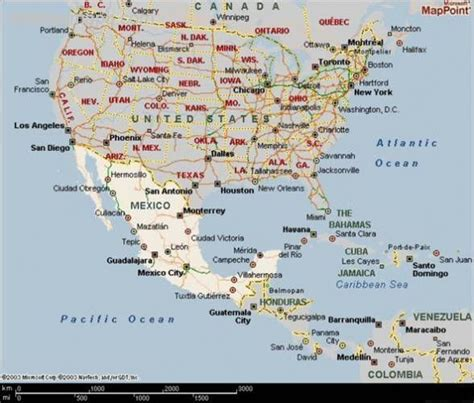 map united states and mexico united states map mexico holidaymapq