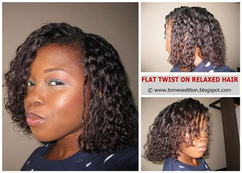 professional short relaxed hairstyles tomes edition my best flat twist out on relaxed hair
