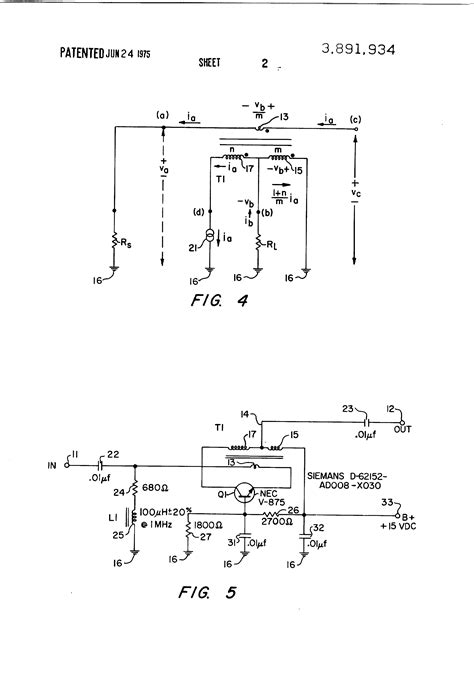 transistor lifier impedance patent us3891934 transistor lifier with impedance matching transformer patents