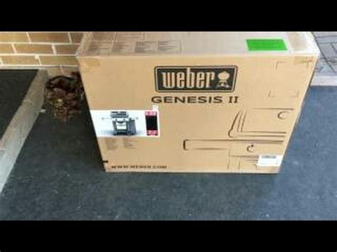 unboxing  review weber genesis ii   bbq youtube