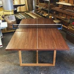 custom made wood ping pong table from builtthings