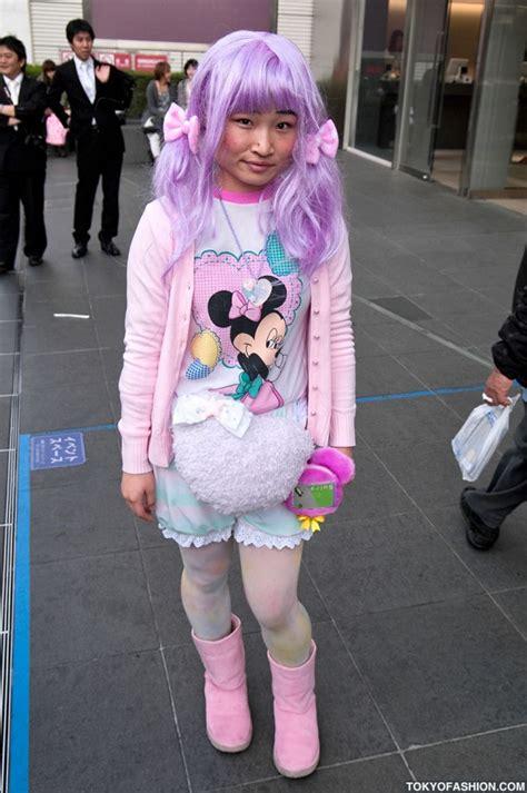 Wig Cowok Korea Harajuku 04 japanese in pink purple pastels in harajuku