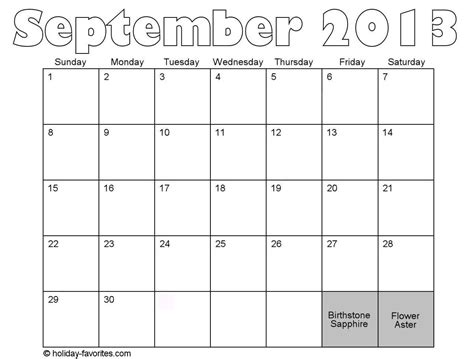 Calendar September 2013 September 2013 Calendar With Holidays Search Results