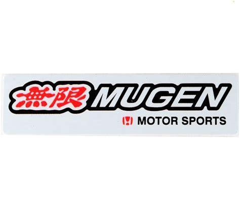 Sticker Bodi Sing Mugen mugen motor sports car emblem badge logo sticker decalaluminum alloy metal black for honda