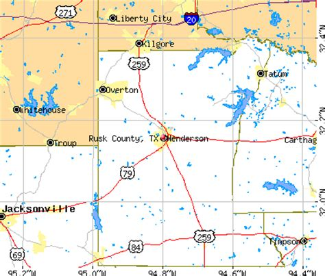 rusk county texas map rusk county texas detailed profile houses real estate cost of living wages work