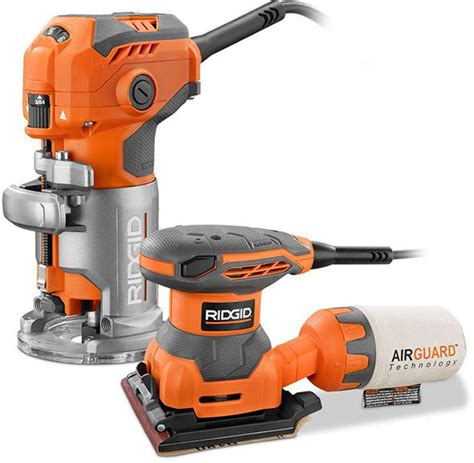 rigid woodworking tools woodworking deal ridgid trim router and free sander for 99