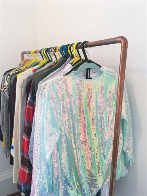 close   diy copper clothes rail yellow feather blog