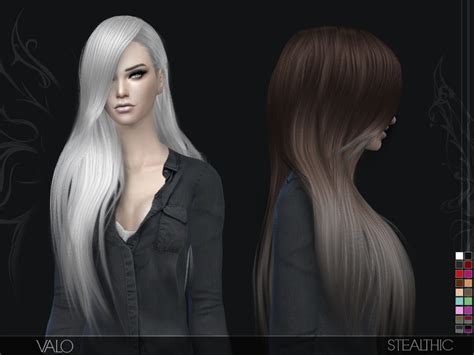 the sims 4 hair cc stealthic valo female hair