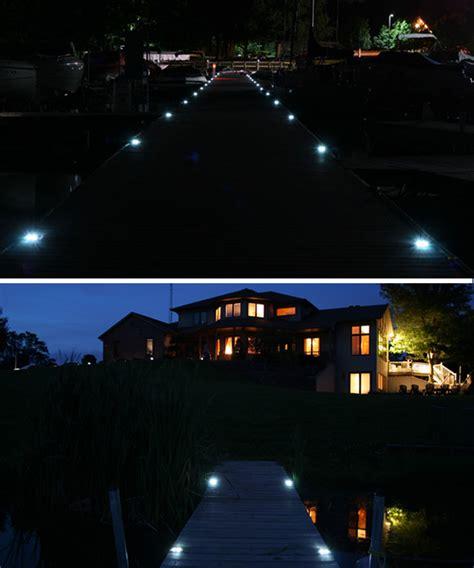 solar marine dock lights marine grade aluminum solar deck or dock light