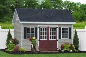 8x14 premier garden shed in vinyl traditional garage