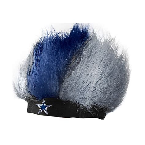 dallas cowboys fan gear dallas cowboys fuzzhead wig fan gear tailgating
