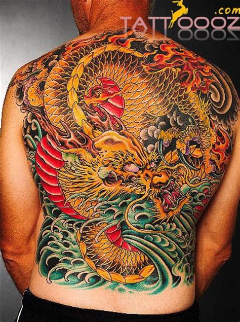 back tattoo japanese dragon back tattoos and designs page 295