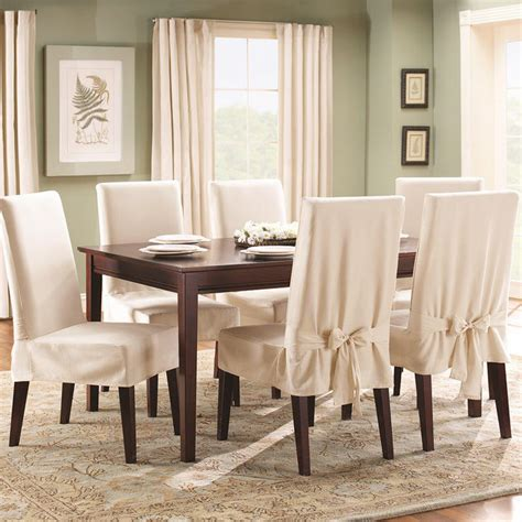 Sure Fit Cotton Duck Dining Chair Slipcover Sure Fit Cotton Duck Dining Room Chair Slipcover