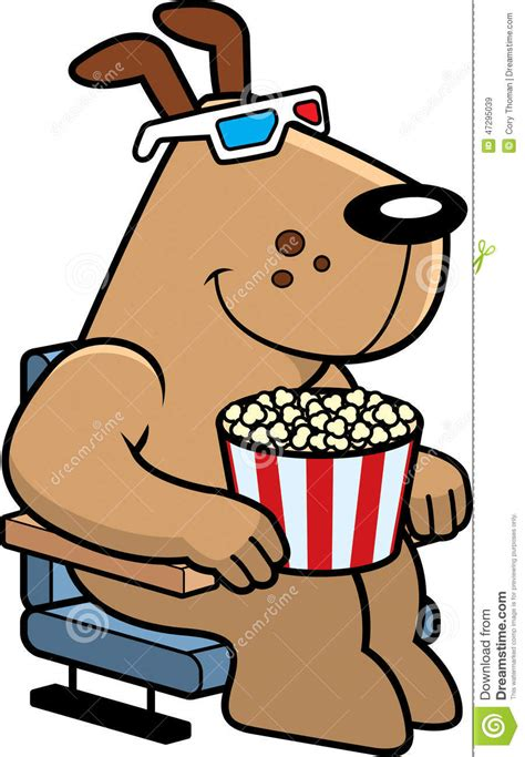 Cartoon dog 3d movies stock vector image 47295039