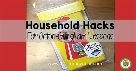 household hacks household hacks for orton gillingham lessons the