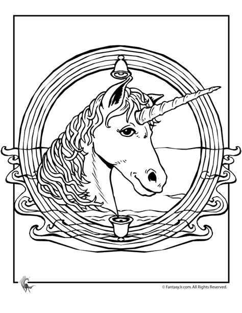 unicorn mandala coloring page woo jr activities