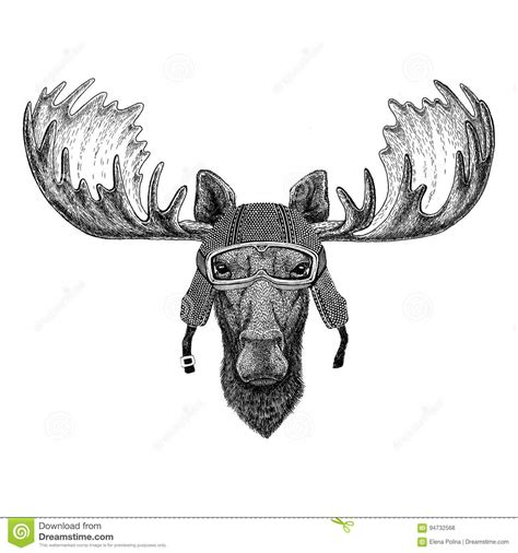 cartoon moose tattoo moose cartoons illustrations vector stock images 3287