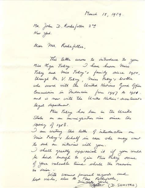 D Rockefeller Essay by D Rockefeller Essay