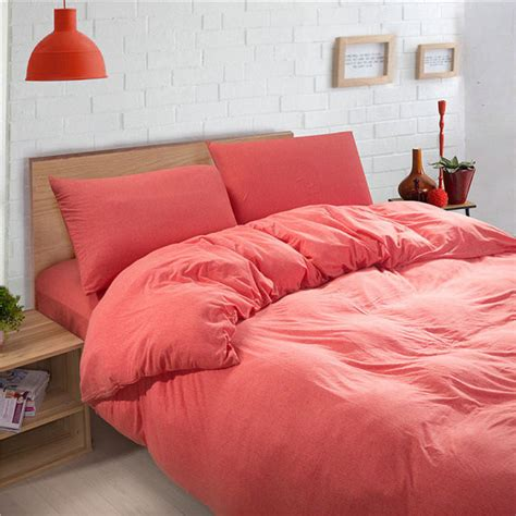 coral pink solid color baby bedding duvet cover sets king