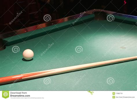 Pool Table Sticks by Cue And Stick On Pool Table Royalty Free Stock Image