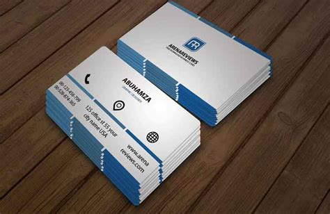 professional name card template free downloadable business card template