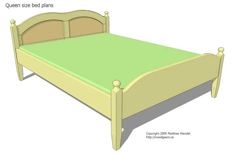 queen bed length queen size bed plans