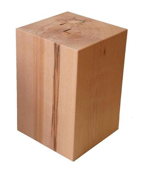 wohnzimmereinrichtung holz sitzblock holz block sitzhocker buche tisch hocker w 252 rfel