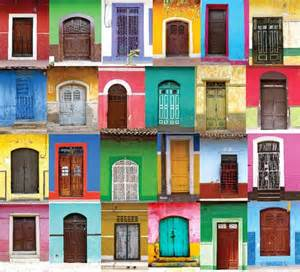 the color splashed doors of america paint pattern
