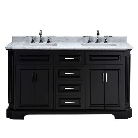 White Marble Vanity Top by Pegasus Bristol 60 In Vanity In Black With Marble Vanity