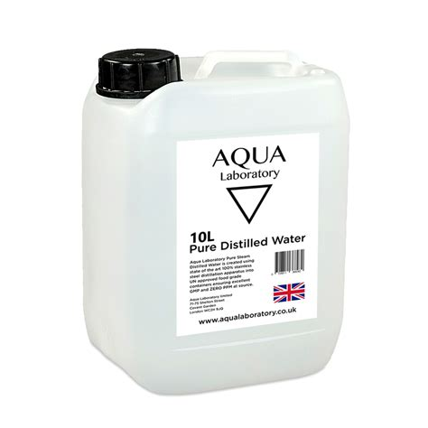 Distilled Water Detox Heavy Metals by Aqua Laboratory Steam Distilled Water 10 Litres In