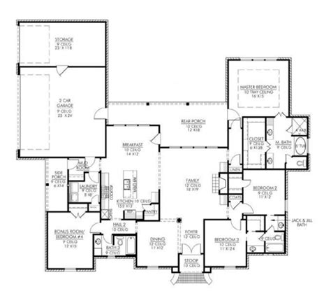 653667 french acadian four bedroom with many extras house plans floor plans home plans 1501 best images about dreaming of home on pinterest