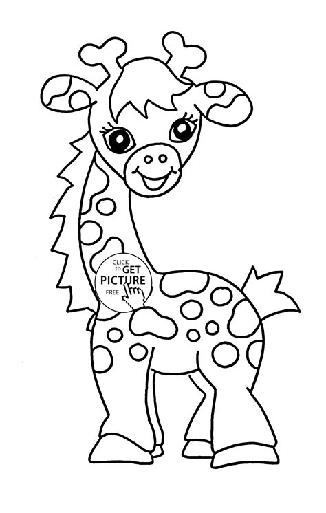 coloring books for toddlers 50 animals to color for early childhood learning preschool prep and success at school activity books for ages 1 3 books baby giraffe animal coloring page for baby animal