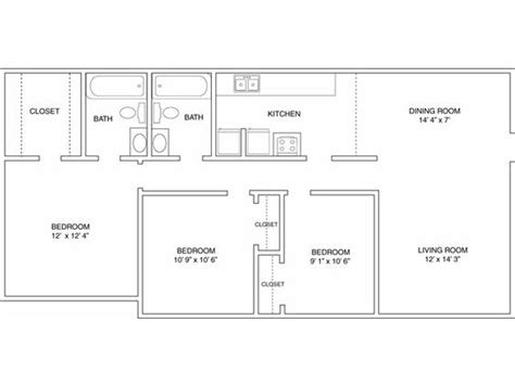 simple floor plan online three bedroom floor plan autumn woods pinterest